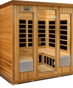 Crystal Sauna LC400 4-5 Person Luxury Infrared Sauna in Red Cedar Review
