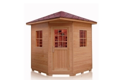 4 Person Outdoor Sauna Hemlock Wood 220v Ceramic Review
