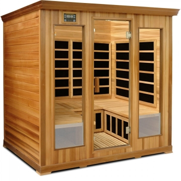 Crystal Sauna LC400 4-5 Person Luxury Infrared Sauna in Red Cedar Picture