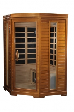 Dynamic Saunas AMZ-DYN-6225-02 Bilbao 2-Person Corner Infrared Picture
