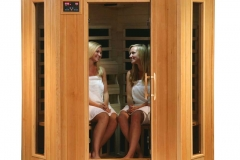 HeatWave Tucson SA2420DX 4 Person Corner Hemlock Infrared Sauna Review