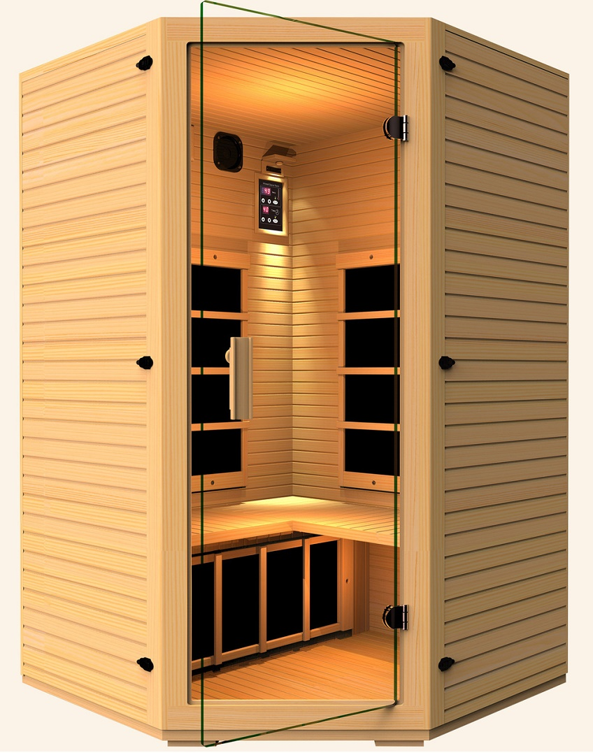 review jnh lifestyles 2 3 person corner far infrared sauna review. Black Bedroom Furniture Sets. Home Design Ideas