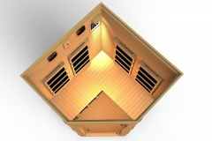 JNH Lifestyles 2-3 Person Corner Far Infrared Sauna, Latest Carbon Fiber Heaters