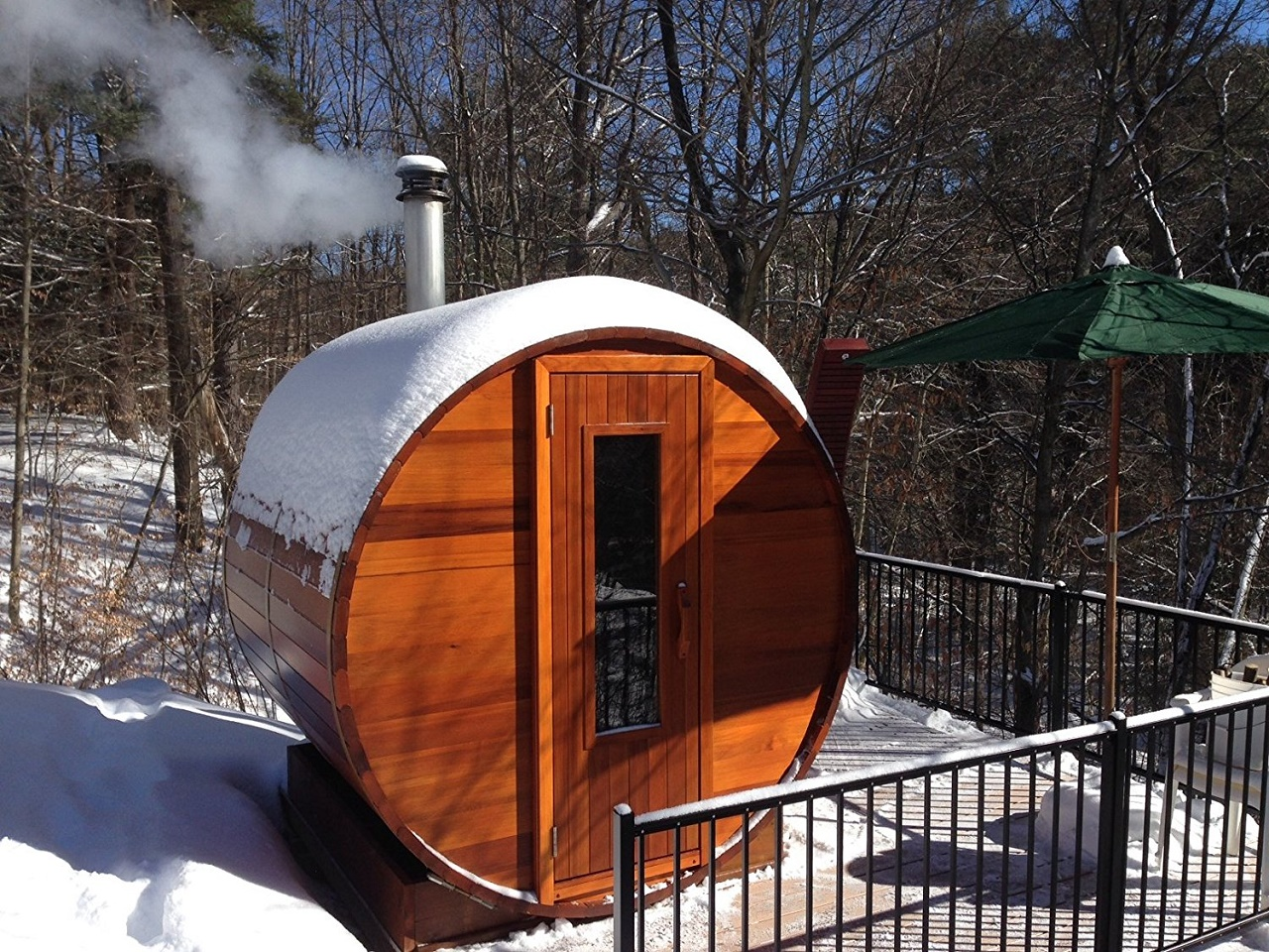 Superior NLCT Outdoor Barrel Sauna Kit Picture