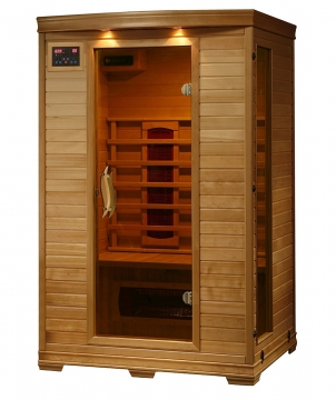 Radiant Saunas BSA2406 2-Person Hemlock Deluxe Infrared Sauna Picture