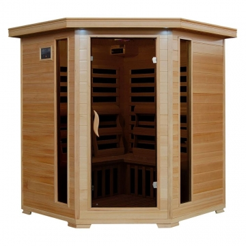 Radiant Saunas BSA2420 4-Person Hemlock Infrared Corner Picture