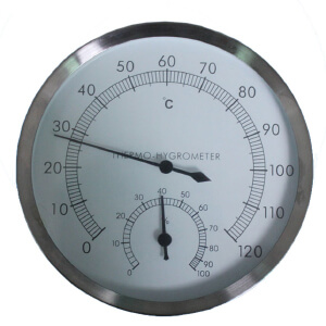 Dealhola Stainless Steel Case Thermometer Hygrometer Picture