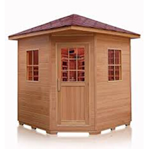 4-person outdoor sauna hemlock